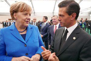 Kanzlerin Merkel und Präsident Nieto im Gespräch