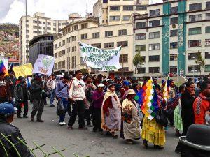 Kokabauern feiern in Bolivien