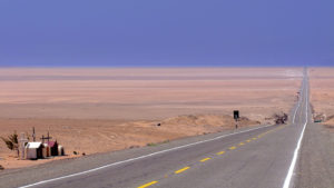 Highway Pan American (1S) in Sechura Desert