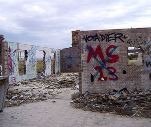 MS13 (Mara Salvatrucha 13) and some crap graff in the middle of nowhere, in Navajo Nation. (Arizona)
