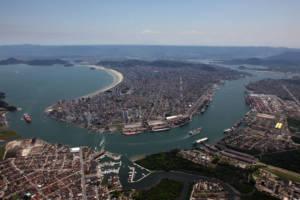 Luftbild von Santos