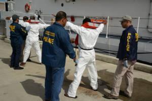 Die Küstenwache in Puerto Rico überprüft verdächtige Dominikaner