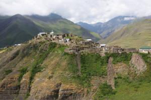 Altes kaukasisches Dorf Xinaliq im Norden Aserbaidschans