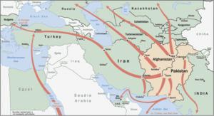 Heroinrouten in Südwestasien