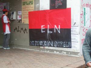 Flagge der Guerillagruppe ELN